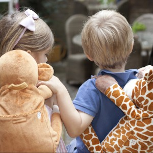Do wyboru mamy lwa, słonia, żyrafę i małpkę. Fot. Bobo Buddies.