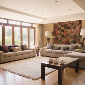 Tapety Heritage marki J&V - to, co wygląda jak ścienny dywan, w rzeczywistości jest ciekawą tapetą. Fot. J&V.