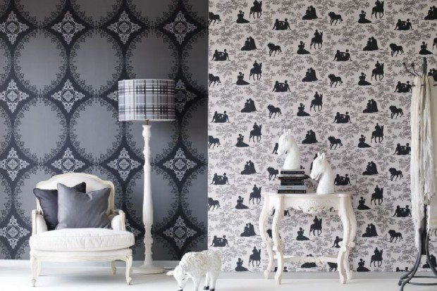 Czarno-białe tapety. 20 najpiękniejszych pomysłów na aranżację