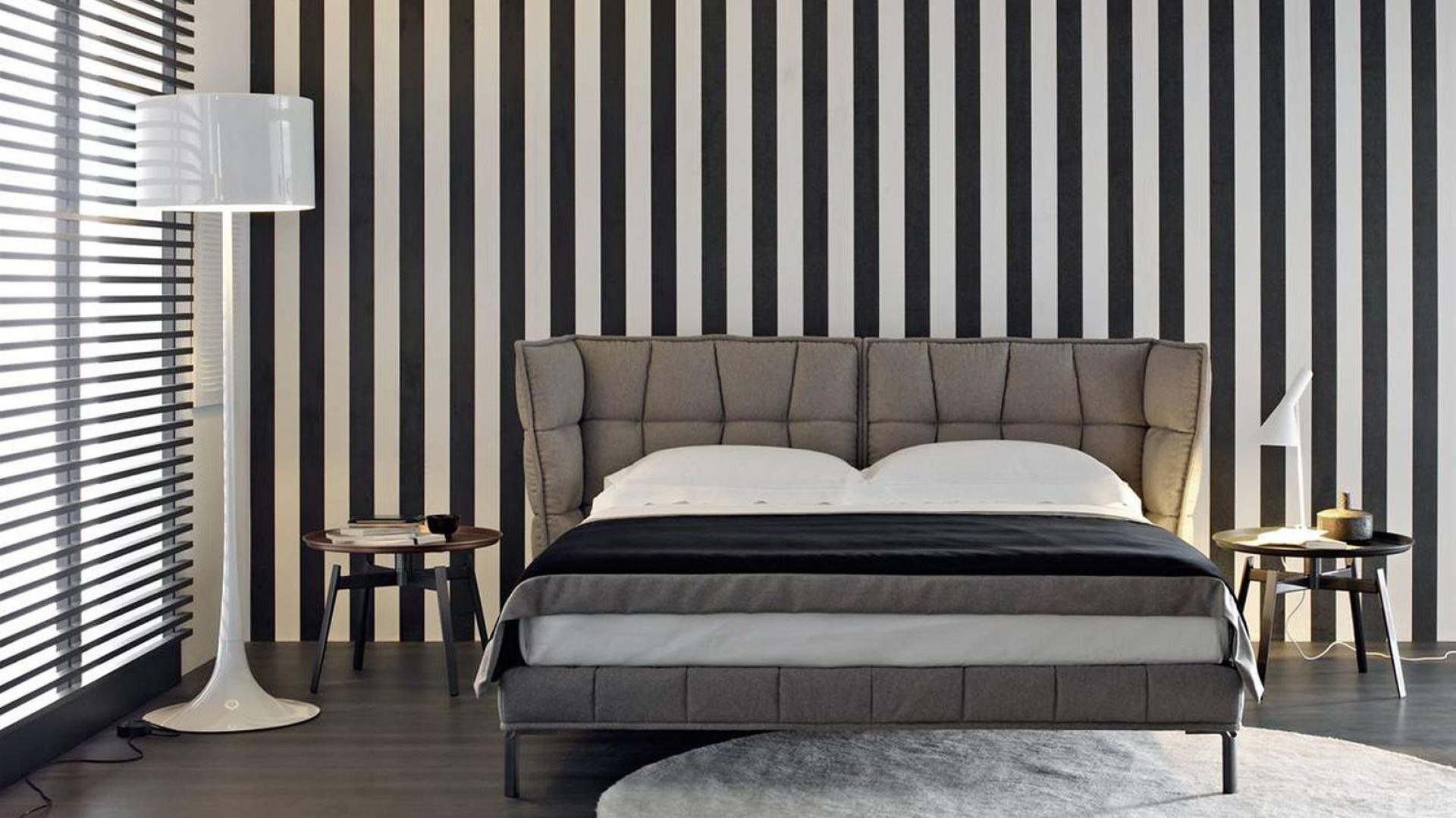 Pomysł Na ścianę Paski W Sypialni Inspirujące Aranżacje