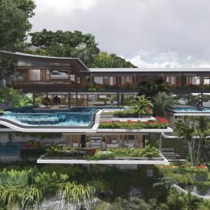 Rezydencja na wzgórzu  projektu Martina Ferrero. Wizualizacje Martin Ferrero Architecture.