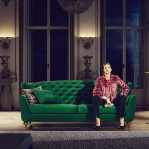 Elegancka sofa Ararat w modnym, butelkowym kolorze. Fot. NDesign.