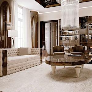Prosta w formie, pikowana sofa z kolekcji Glamour marki Reflex. Fot. Reflex.