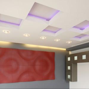 Na ścianie panele 3D Loft Design System. Fot. Bartosz Jarosz.