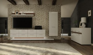 Nowoczesny salon zaprojektowany przez Studio Kreska.