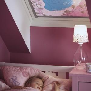 Bajkowa roleta nie tylko zaciemnia pokój podczas snu, ale też ciekawie go zdobi. Fot. Velux.
