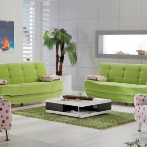 Limonkowa sofa z serii Hoby. Fot. Istikbal.