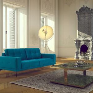 Turkusowa sofa Tulip. Fot. NDesign.