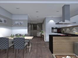 Projekt mieszkania na osiedlu Ogrody Bluszczańska.