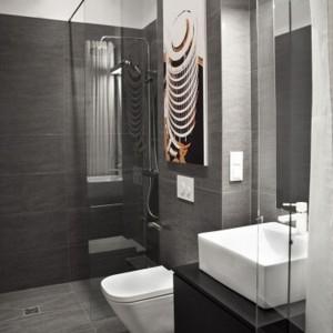 Kawalerka mniej niż 19 m2 - łazienka