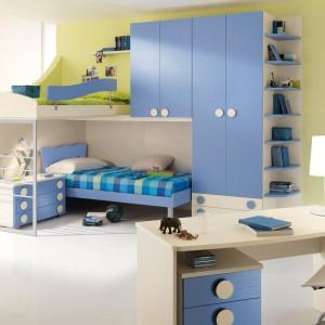 Niebiesko-zielona aranżacja pokoju dwóch synów. Fot. Spar.