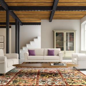 Dwie sofy wraz z fotelem wyznaczają granice salonu. Fot. NDesign.