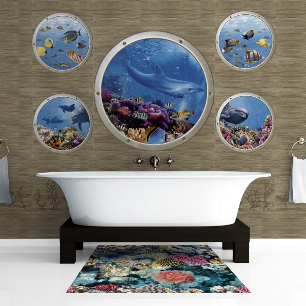 Morskie inspiracje. Pomysł na dekorację łazienki