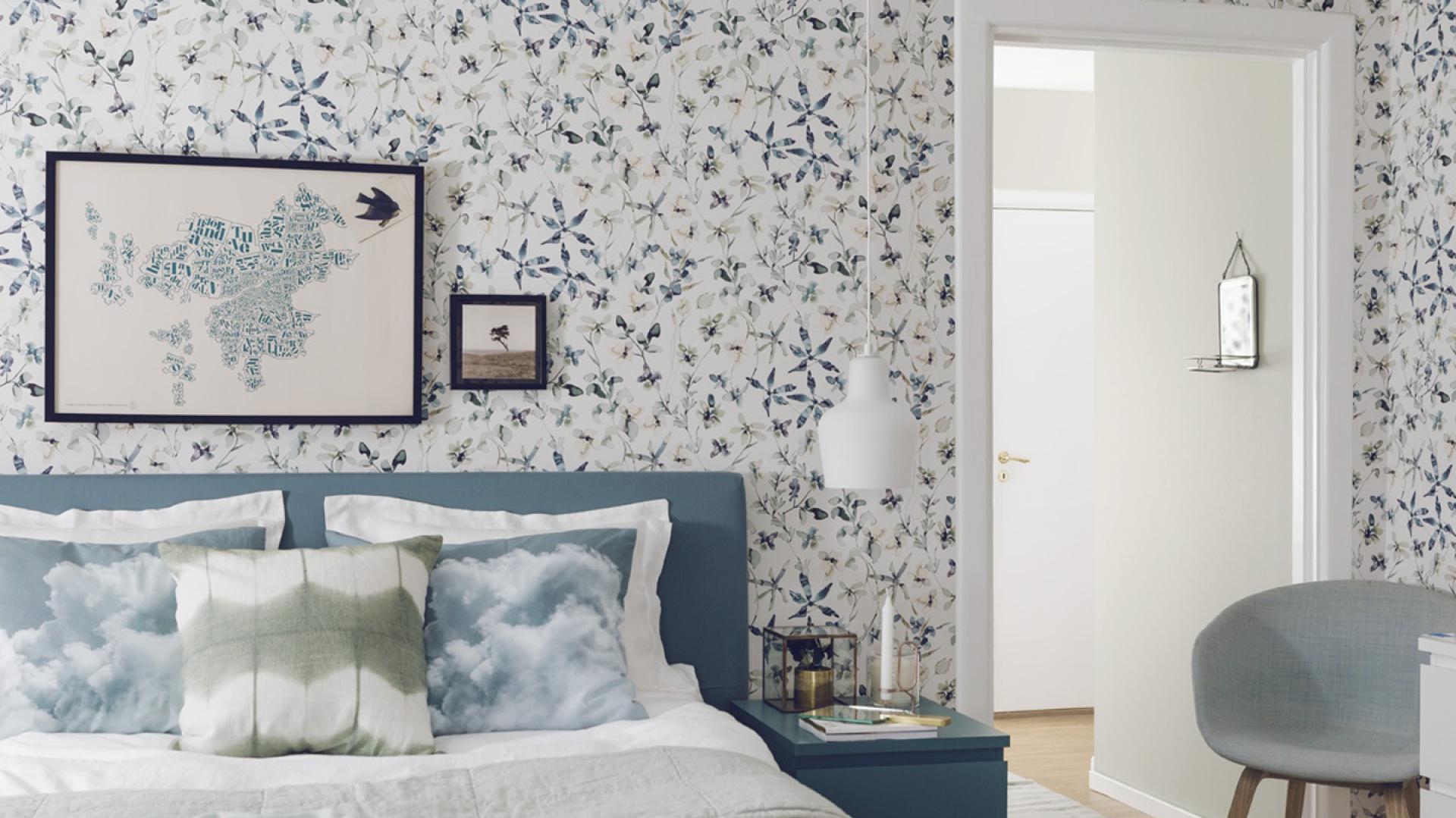 Kwiaty W Sypialni Pomysł Na Ciekawą Dekorację ściany