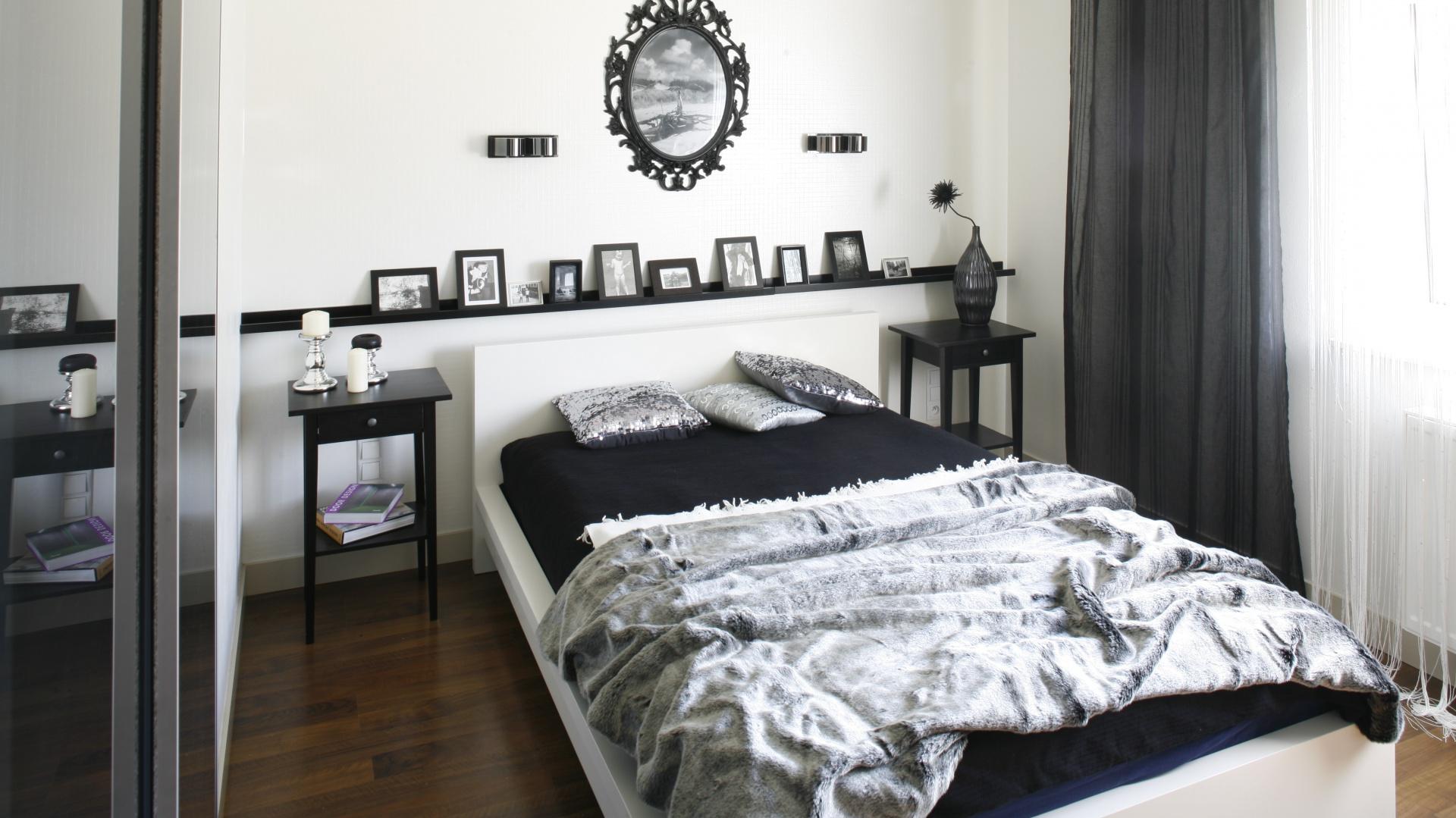 Czarno Biała Sypialnia W Stylu Glamour Prawda że Piękna