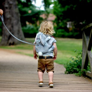 Specjalna smycz umożliwia rodzicom bezpośrednią kontrolę rozbrykanego malucha. Fot. Bobo Buddies.