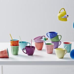 Kolorowe kubki ceramiczne, ręcznie wykonane. 61 zł/sztuka, Rice/Mybaze.com.