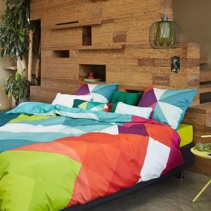 Pościel Essenza Sjors w kolorowe, geometryczne wzory. Fot. Essenza Home.