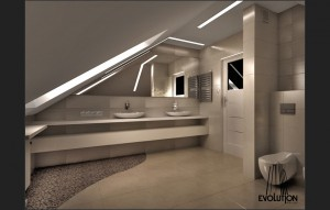 Dom w Końskich - łazienka.