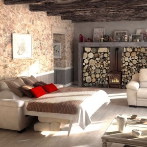 Beżowa kanapa Leonis firmy Rom w dzień służy za wygodne siedzisko, a nocą jako łóżko. Fot. Rom.