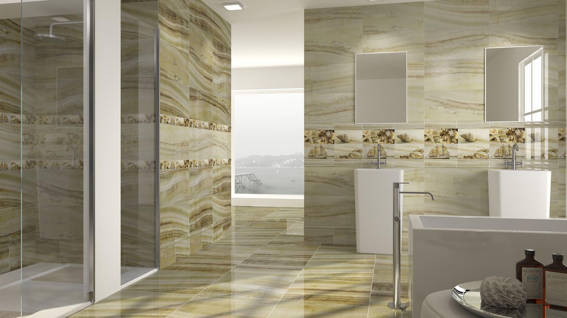 Beżowe Płytki Do łazienek Ciekawe Pomysły Na ścianę