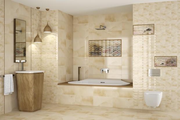Beżowe płytki do łazienek. Ciekawe pomysły na ścianę