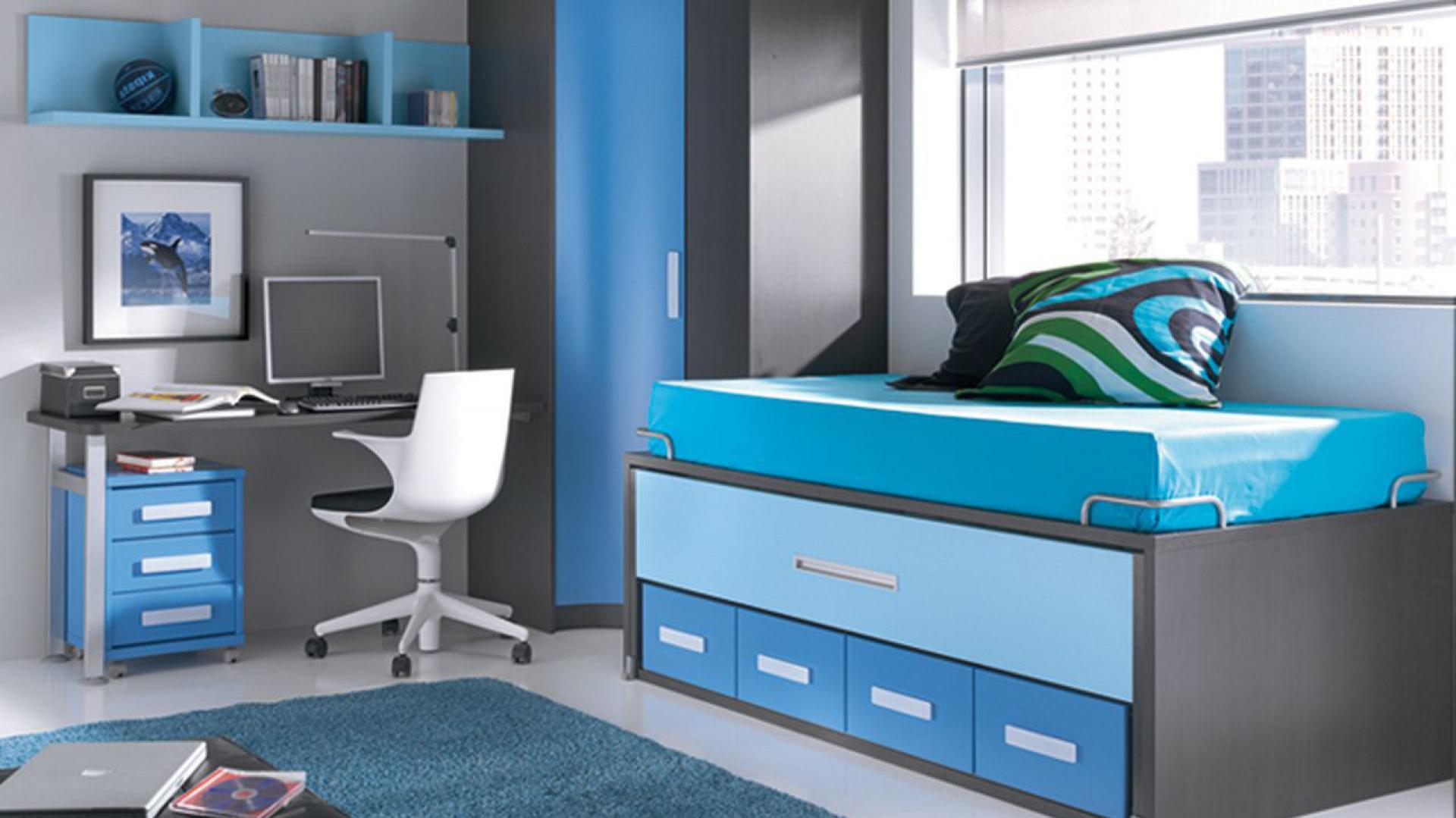 szaro niebieski pok j dla niebieski pok j dziecka 15 pomys w na wn trze w uniwersalnym. Black Bedroom Furniture Sets. Home Design Ideas