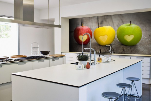 Ściana nad blatem. Zobacz najciekawsze aranżacje kuchni z fototapetami