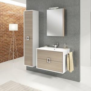 Meble łazienkowe z kolekcji Linea marki Defra wyróżnia prosta forma podkreślona przez oryginalne uchwyty. Szuflady z systemem cichego domykania, pełnym wysuwem i estetyczną maskownicą syfonu, znacznie podnoszą komfort użytkowania.  Fot. Defra.