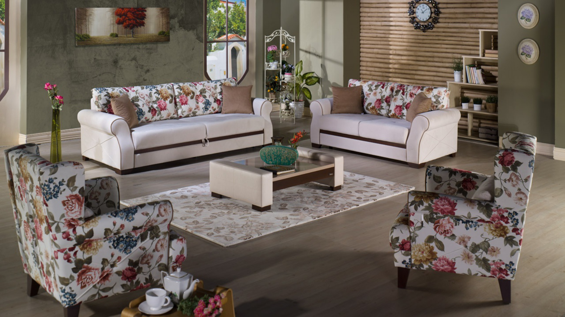 Sofy I Fotele W Kwiaty Romantyczne Propozycje Do Pokoju