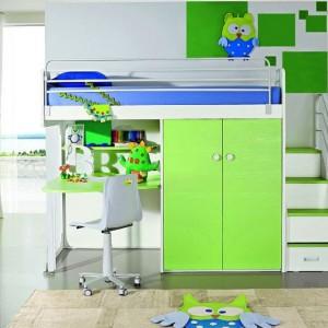 Pokój malucha w intensywnie zielonych kolorach. Fot. ZG Group.