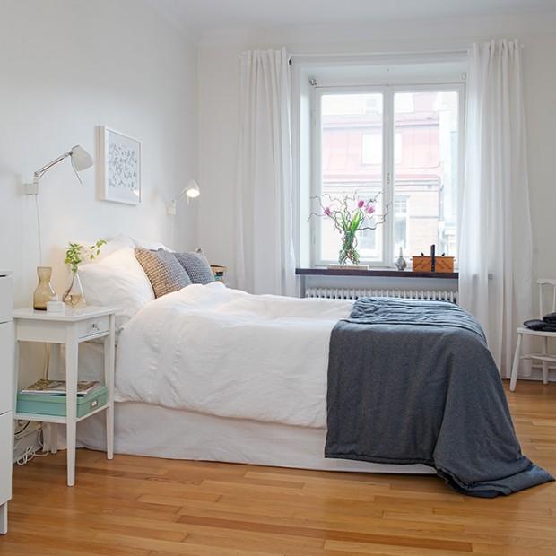 15 wyjątkowych aranżacji. Sypialnia w stylu skandynawskim