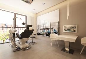 Nowoczesne wnętrza - stomatologia gabinet.