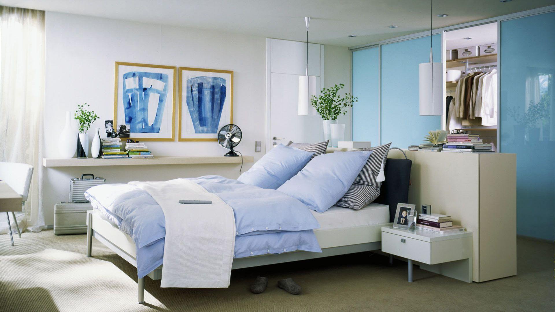 Niebieska Sypialnia 15 Pomysłów Na Kolorowe ściany