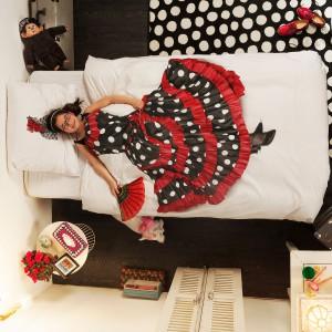 Pościel dedykowana wielbicielom flamenco. Fot. Snurk.