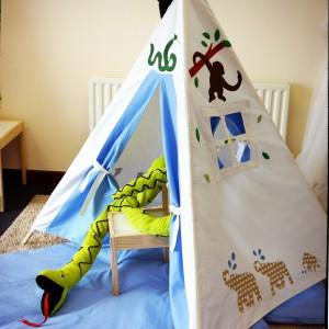 TeePee zainspiruje dzieci do zabawy w Indian. Fot. Myweeteepee.
