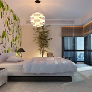 """Tapeta """"Liście"""" wprowadzi spokojną atmosferę do sypialni. Fot. Minka."""