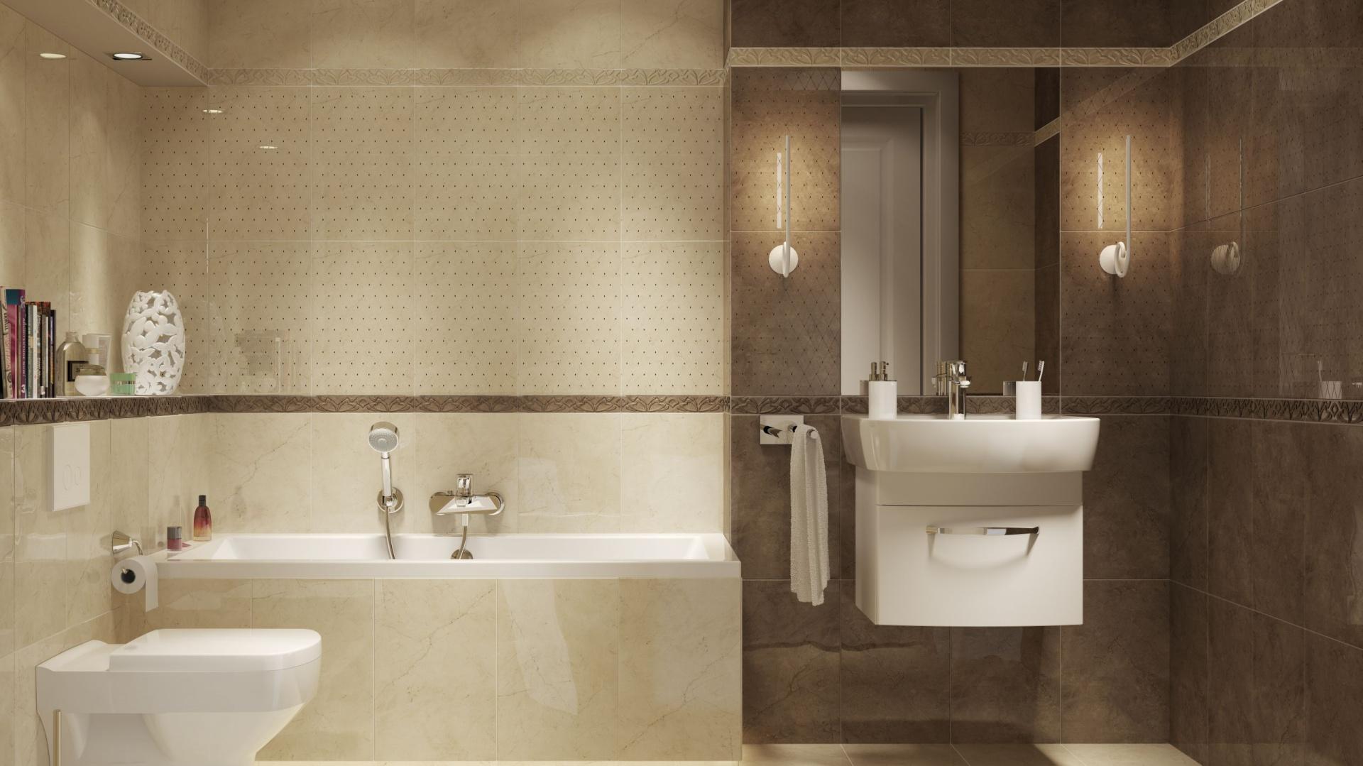 łazienka W Beżach I Brązach Zobacz 15 Kolekcji Płytek