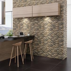 Płytki ścienne z kolekcji Nest dostępne w ofercie firmy Zirconio. Matowa, reliefowa powierzchnia. Dostępne w trzech kolorach. 113 zł/m², Zirconio/Domus.