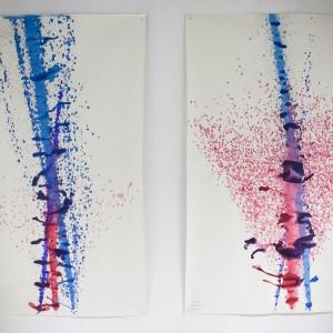 Autor: Joanna Statucka, Basia Bilon, I rok School of Form Projekt: Maszyna rysująca Opis: maszyna malująca obrazy. Reaguje na zmianę tonów w muzyce i przetwarza częstotliwość dźwięków na obraz. Na zdjęciu z lewej: Kahn - Badman City feat. Flowdan