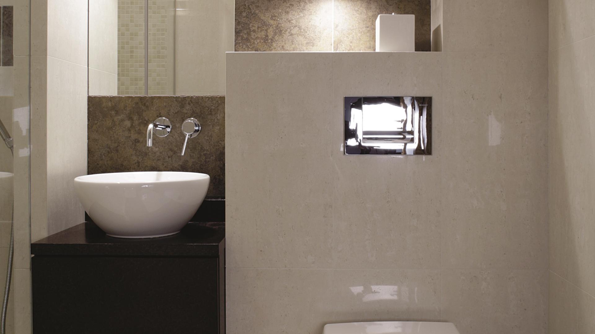 Łazienka na trzech metrach: zobacz projekty architektów - Galeria - Dobrzemieszkaj.pl