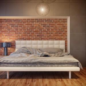 Łóżko z tapicerowanym zagłówkiem wnosi do wnętrza odrobinę glamouru. Fot. Nowa Papiernia.