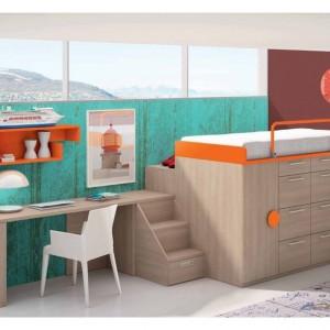 Mebel łączący funkcję szafy i łóżka zmieści się nawet w najmniejszym pokoiku. Fot. Muebles Lara.
