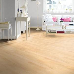 Podłogi Haro Ash Trend dostępna w ofercie firmy Podłogi Haro. To warstwowa podłoga w jasnym, naturalnym wybarwieniu i matowym wykończeniu. Fot. Podłogi Haro.