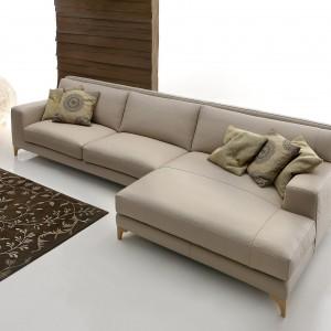 Elegancka sofa narożna Morrison Leather projektu Stefano Spessotto i Lorelly Agnoletto. Fot. Ditre Italia.