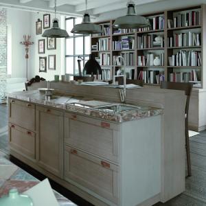 Wyspa z drewna to element, którego nie może zabraknąć w rustykalnej kuchni. Fot. Zappalorto.
