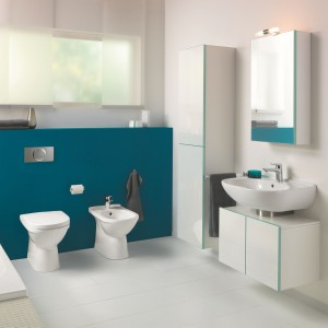 Kolekcja ceramiki sanitarnej O.novo marki Villeroy&Boch zaprojektowana jest z myślą o małych łazienkach. Fot. Villeroy&Boch.