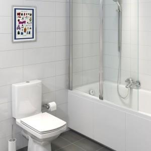 W kolekcji Eeasy firmy Cersanit  z powłoką Clean PRO przeciwdziałającą powstawaniu kamienia i osadów znajdziemy kompakt WC z antybakteryjną deską duroplastową z wygodnym siedziskiem i systemem wolnego opadania. Fot. Cersanit.