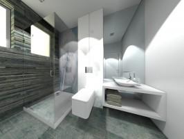 Mała łazienka pod Białymstokiem.