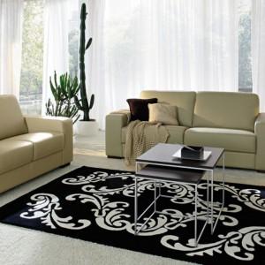 Dywan zdobiony motywem roślinnym to idealna propozycja do eleganckich wnętrza. Fot. Colombini Casa.
